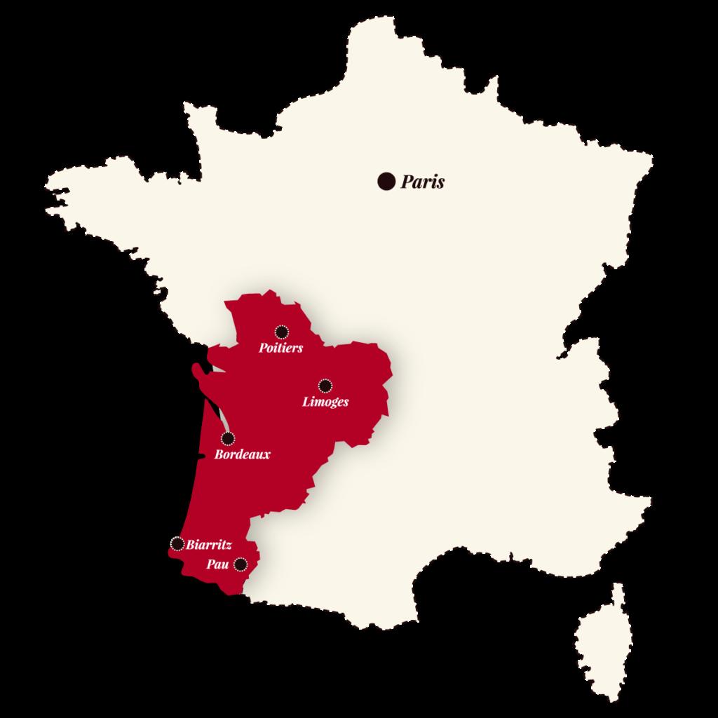Nouvelle Aquitaine Carte